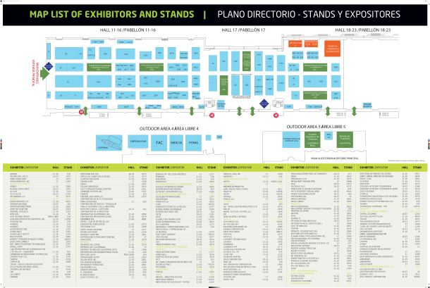 Expodefensa 2019 - Map List of Exhibitors Plano Directorio_180x120cms-02.12.19 bd